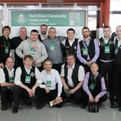 Общее фото с Александром Паламарем, открытый Кубок Кузбасса по бильярду среди инвалидов по слуху 8 февраля 2013 года