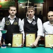 Победители турнира, открытый Кубок Кузбасса по бильярду среди инвалидов по слуху 8 февраля 2013 года