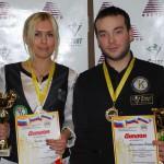 Александр Плотников  и Мария Голяк – чемпионы НСО 2014 по бильярдному спорту