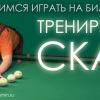 Подучимся играть на бильярде: «Тренируем скат»