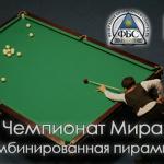 Чемпионат мира по бильярдному спорту 2016 в Казахстане. Страница турнира