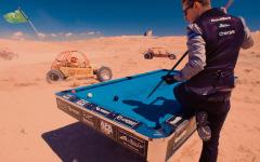 Бильярдные трюки в пустыне от Венома