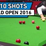 Топ 10 лучших ударов с World Open Snooker 2016