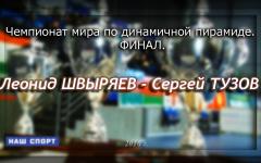 Финал ЧМ 2016 по русскому бильярду по динамичной пирамиде. ТВ-версия