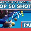 Топ 50 лучших ударов с World Cup Of Pool 2017. Часть 1