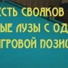 Свояки в разные лузы с одной позиции на русском бильярде